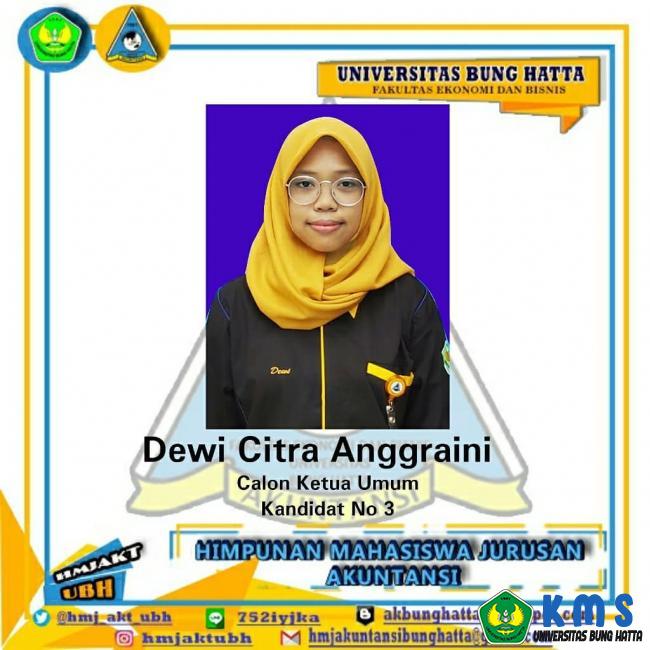 Dewi Citra Anggraini Terpilih Sebagai Ketua Himpunan Akuntansi Masa Bakti 2020-2021